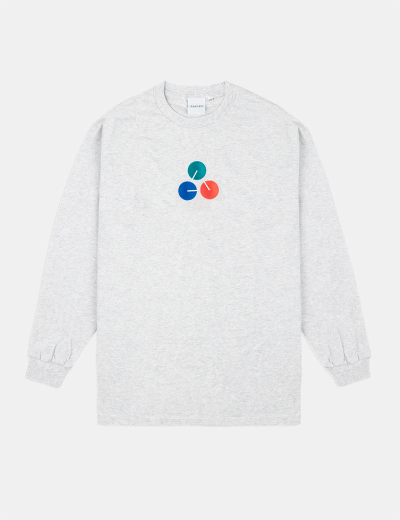 Parlez Ole Long Sleeve T-Shirt - Grey Heather