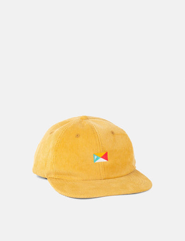 Parlez Pennant Corduroy Cap (6 Panel) - Yellow