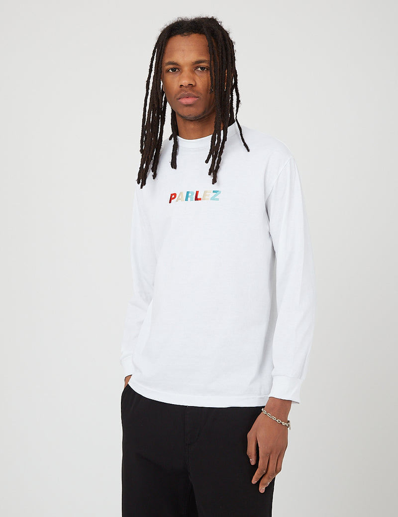 Parlez Faded Long Sleeve T-Shirt - White