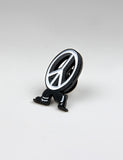 SCRT Keep Peaceful Pin - Black/White