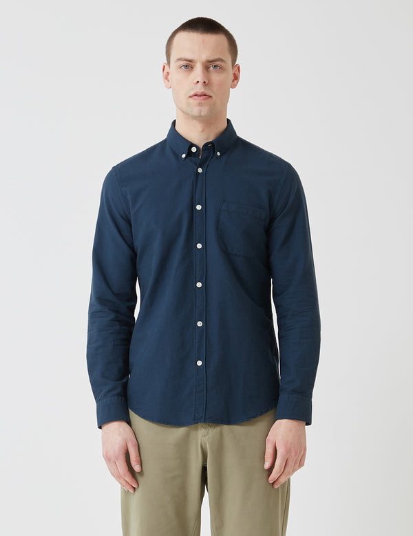 Portuguese Flannel Belavista Shirt (Button Down) - Navy Blue
