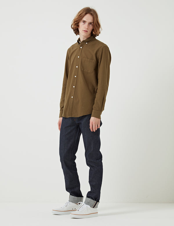 Portuguese Flannel Belavista Shirt (Button Down) - Olive Green