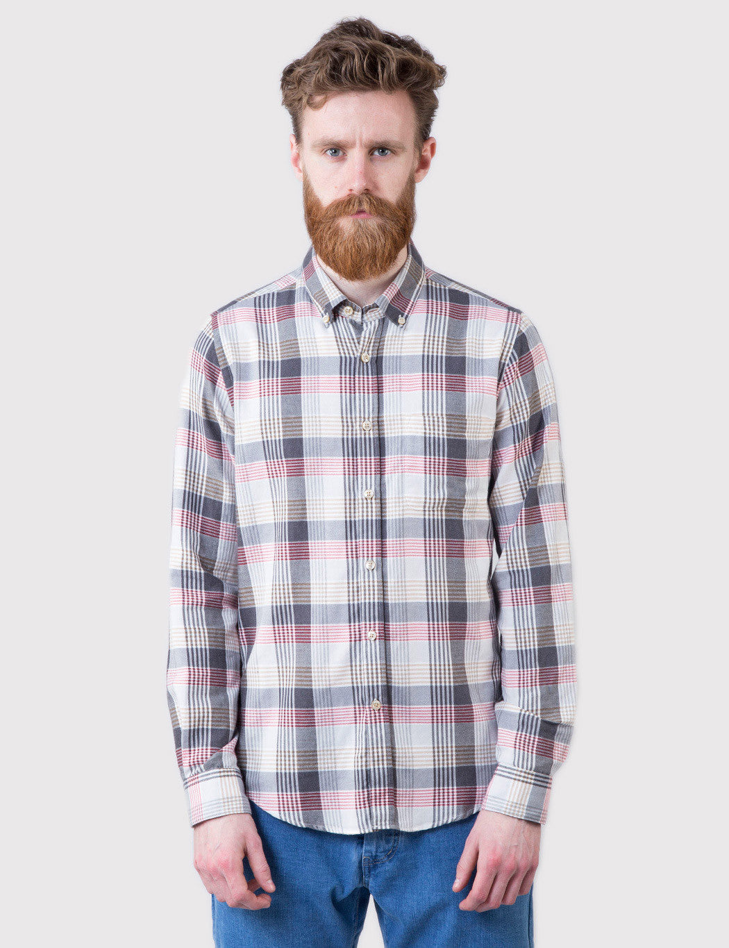 Portuguese Flannel Olival Shirt - Red