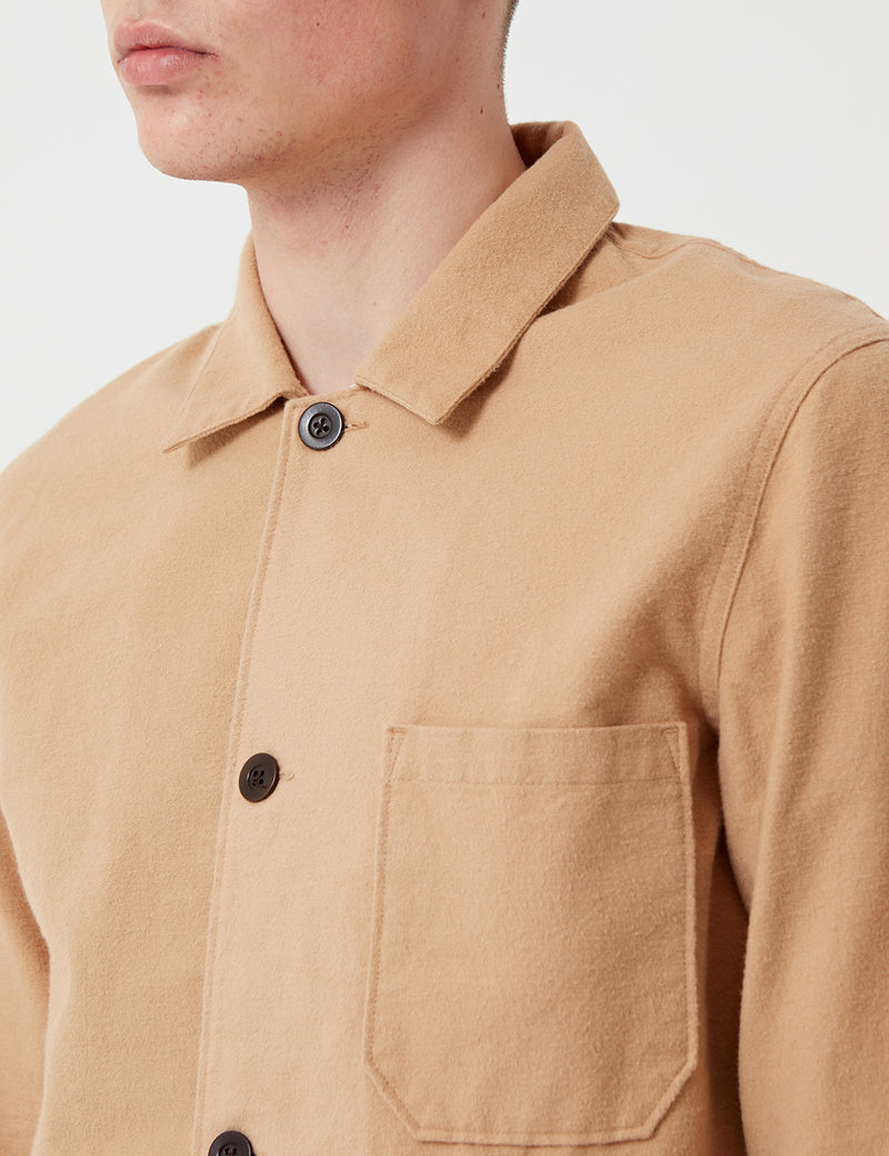 Portuguese Flannel Pinheiro Jacket (Brushed Flannel) - Cream