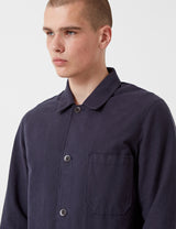 Portuguese Flannel Pinheiro Jacket (Brushed Flannel) - Navy Blue