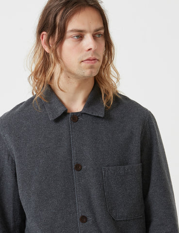 Portuguese Flannel Pinheiro Jacket (Brushed Flannel) - Grey