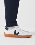 Veja V-12 Leather Trainers - Extra White/Black/Natural