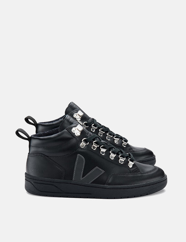 Baskets en cuir Veja Roraima - Grafite Black-Sole