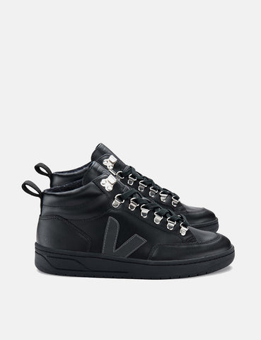 Veja Roraima Leather Trainers - Grafite Black-Sole