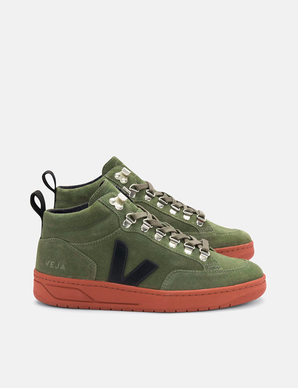 Veja Roraima Wildledertrainer - Olive/Rust