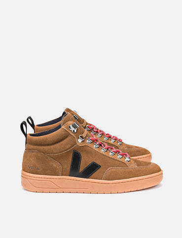 Veja Roraima Suede Trainers - Brown/Black/Natural
