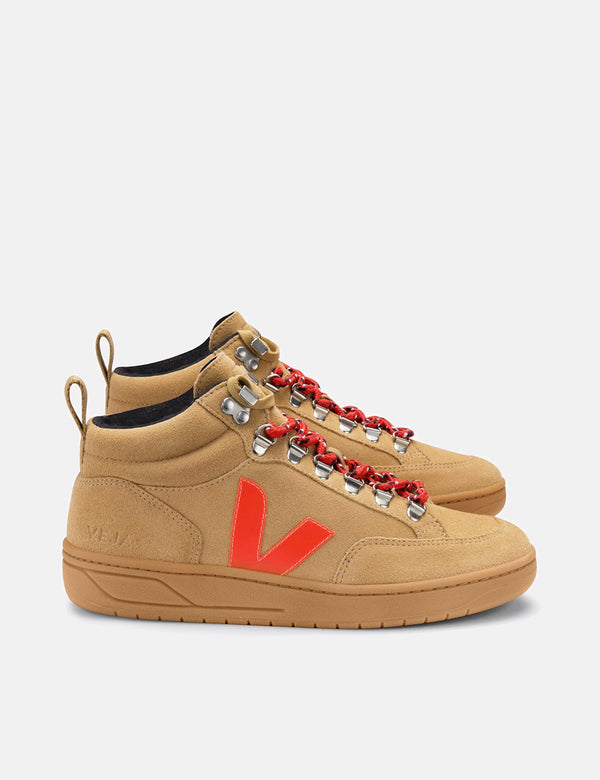 Veja Roraima Wildledertrainer - Desert/Orange Fluo/Gum Sole