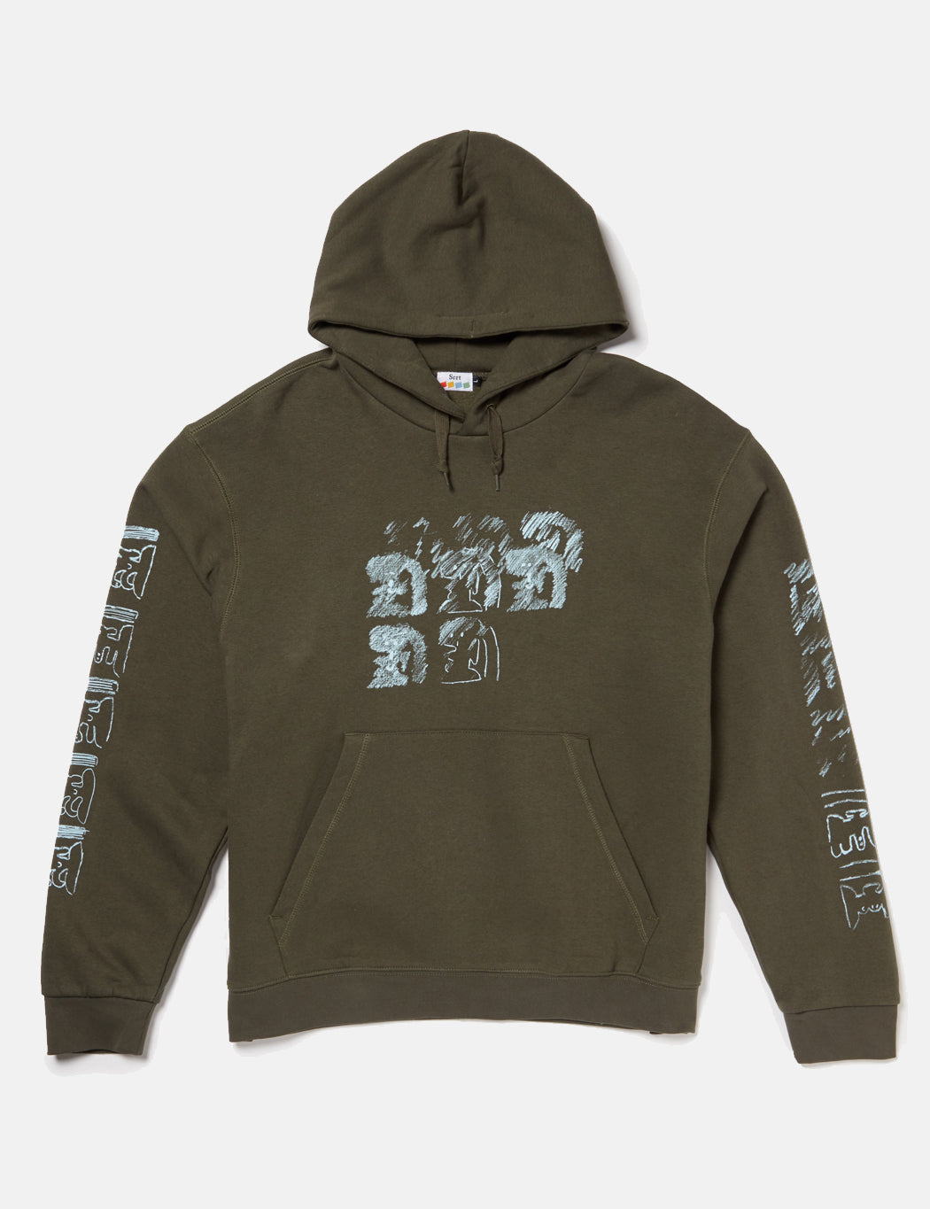 8697eff6 SCRT Ritual Hooded Sweatshirt - Olive Green | URBAN EXCESS.