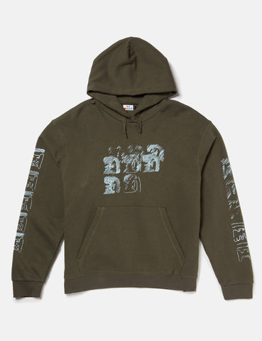 SCRT Ritual Hooded Sweatshirt - Olive Green