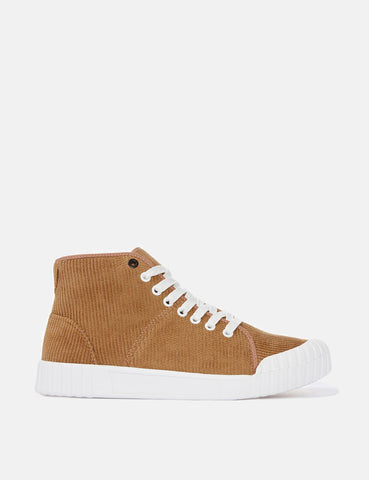 Good News Rhubarb Hi Trainers (Cord) - Tan