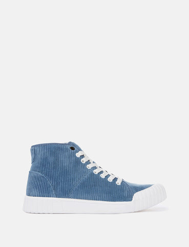 Good News Rhubarb Hi Trainers (Cord) - Blue