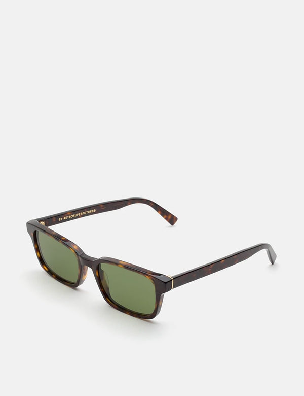 RetroSuperFuture Regola 3627 Sunglasses - Havana/Green Lenses