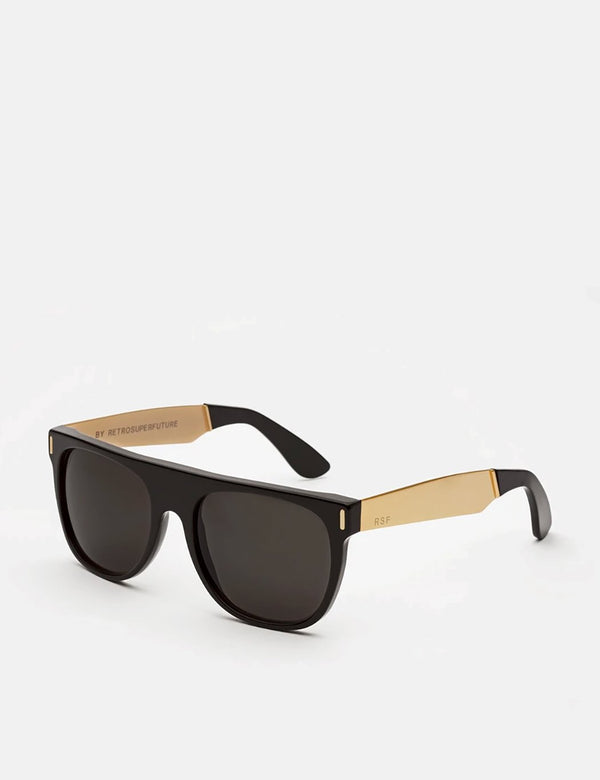 RetroSuperFuture Flat Top Francis Sunglasses - Black/Gold