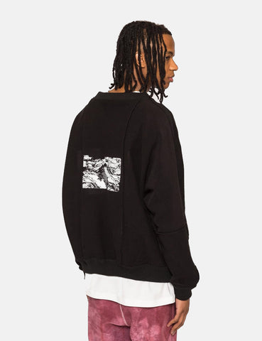 Sampaix Terrace Crew Neck Sweatshirt - Black