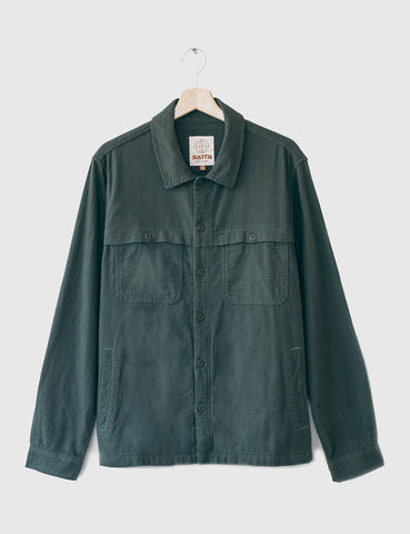 Satta Yoke Overshirt - Alpine Green