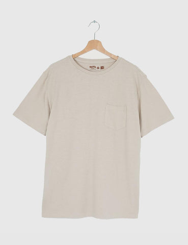 Satta Hemp Pocket T-Shirt - Calico Cream
