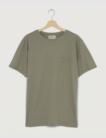 Satta Hemp Pocket T-Shirt - Seafoam Green