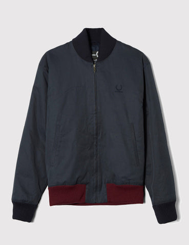 Fred Perry x Raf Simons Padded Bomber Jacket - Dark Airforce