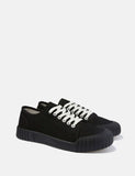 Good News Slugger Low Trainers (Canvas) - Black/Black