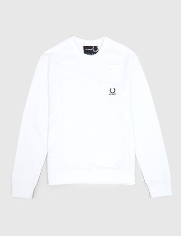 Fred Perry x Raf Simons Denim Pocket Sweatshirt - White