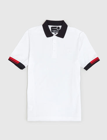 Fred Perry x Raf Simons Tipped Cuff Pique Shirt - White
