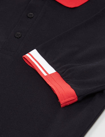 Fred Perry x Raf Simons Tipped Cuff Pique Shirt - Black