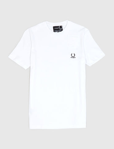 Fred Perry x Raf Simons Denim Pocket T-Shirt - White