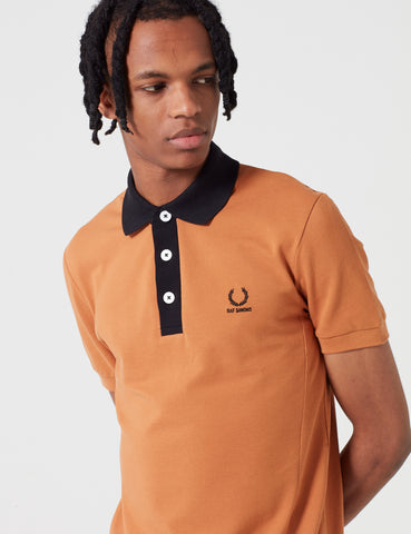 Fred Perry x Raf Simons Short Sleeve Pique Shirt - Bronze