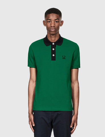 Fred Perry x Raf Simons Short Sleeve Pique Shirt - Green