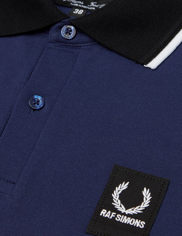 Fred Perry x Raf Simons Contrast Collar Pique Shirt - French Navy