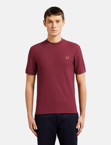 Fred Perry x Miles Kane Crew Neck Pique T-Shirt  - Aubergine