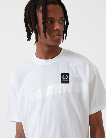 Fred Perry x Raf Simons Tape Detail T-Shirt - White