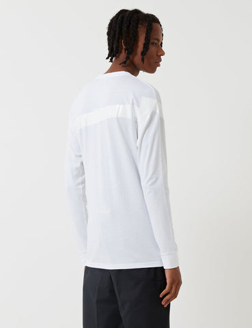 Fred Perry x Raf Simons Tape Detail Long Sleeve T-Shirt - White
