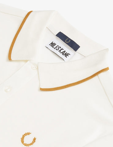 Fred Perry x Miles Kane Fine Tipped Pique Shirt - Snow White
