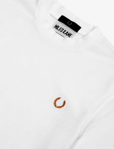 Fred Perry x Miles Turtleneck Pique T-Shirt - White
