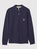 Fred Perry x Nigel Cabourn Long Sleeve Training Pique Shirt - French Navy