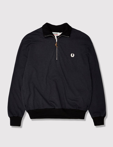 Fred Perry x Nigel Cabourn Training Half Zip Sweat - Black Navy