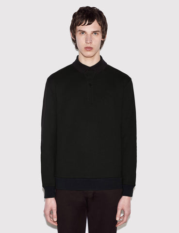 Fred Perry x Raf Simons Knit Polo Shirt - Black