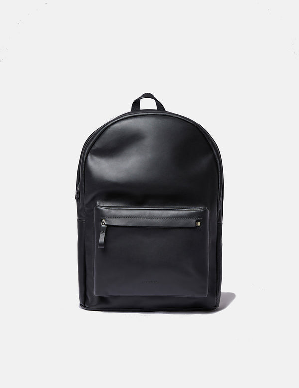 Sandqvist Ingvar Backpack (Leather) - Black