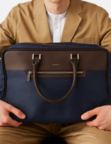 Sandqvist Mattias Weekend Bag - Navy Blue/Brown