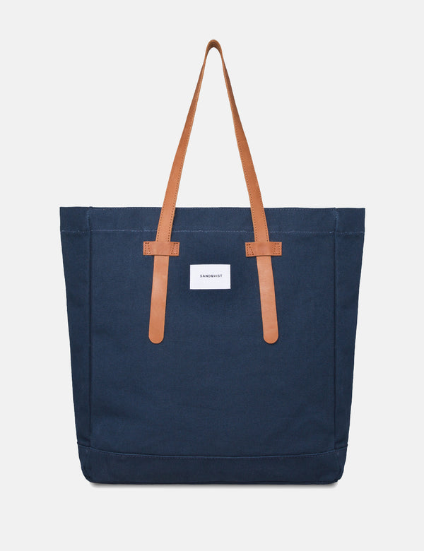 Sandqvist Stig Tote Bag (Canvas) - Blue