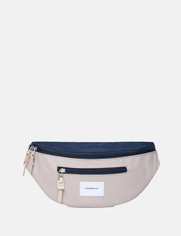 Sandqvist Aste Hip Bag - Beige/Navy Blue