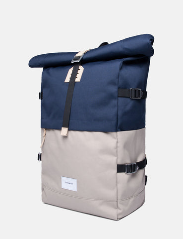 Sandqvist Bernt Backpack - Beige/Blue