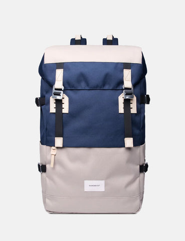 Sandqvist Harald Backpack - Beige/Blue