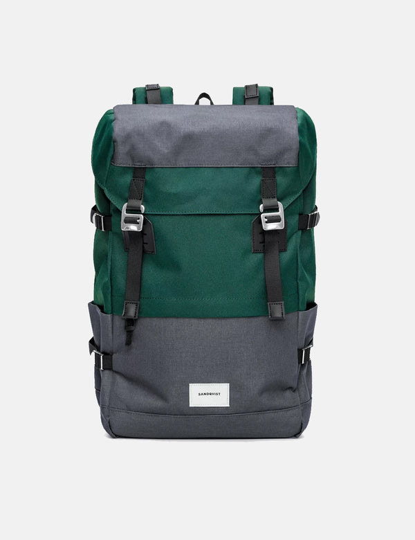 Sandqvist Harald Backpack - Deep Green/Dark Grey